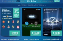 Calcio streaming: tutta la Champions League su Sky Online