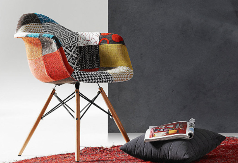 sedie patchwork colorate